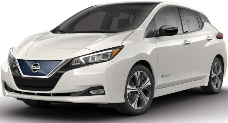 image of a 2019 all-electric Nissan LEAF