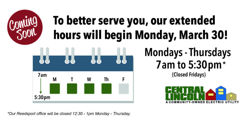 New office hours starting March 30