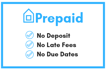 Prepaid. No Deposit. No Late Fees. No Due Dates.