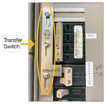 image of a generator transfer switch